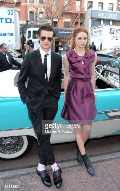 Matt Smith and Karen Gillan attend the 'Doctor Who' Season 6 premiere screening at the Village East Cinema on April 11 2011 in New York City