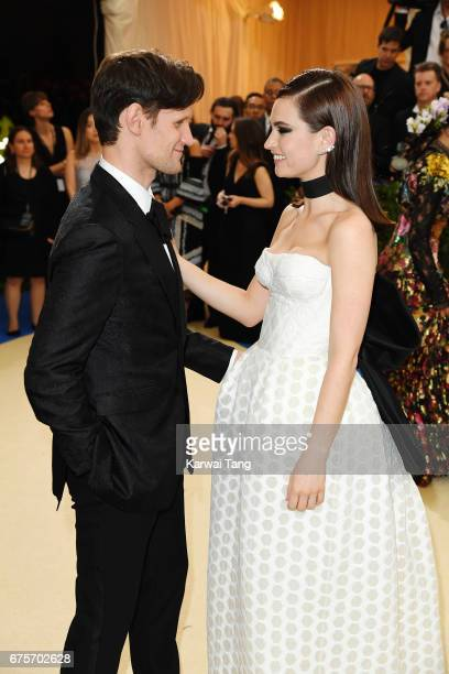 Matt Smith and Lily James attend 'Rei Kawakubo/Comme des Garcons Art Of The InBetween' Costume Institute Gala at Metropolitan Museum of Art on May 1...
