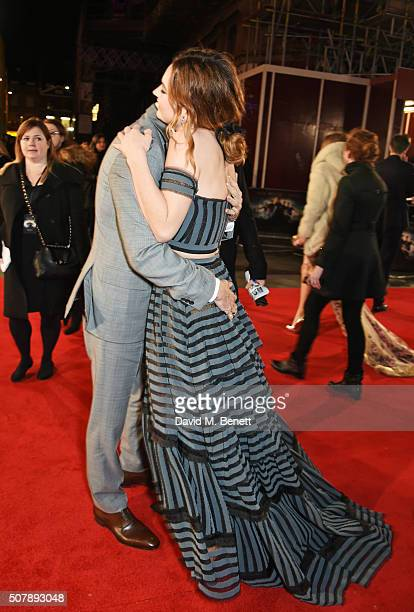 Matt Smith and Lily James attend the European Premiere of 'Pride And Prejudice And Zombies' at the Vue West End on February 1 2016 in London England