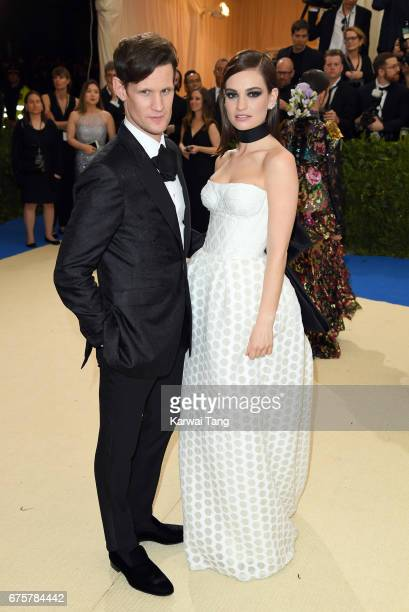 Matt Smith and Lily James attend the 'Rei Kawakubo/Comme des Garcons Art Of The InBetween' Costume Institute Gala at the Metropolitan Museum of Art...