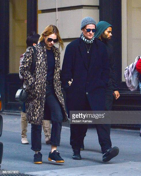 Matt Smith and Lily James seen out and about in SoHo on December 6 2017 in New York City