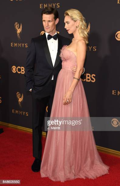 Matt Smith and Vanessa Kirby attend the 69th Annual Primetime Emmy Awards at Microsoft Theater on September 17 2017 in Los Angeles California