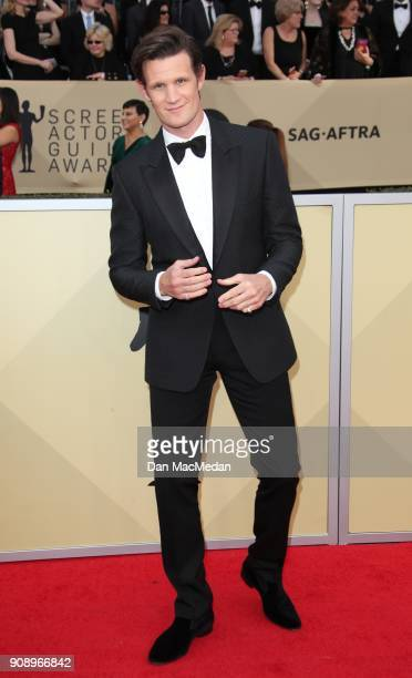 Matt Smith arrives at the 24th Annual Screen Actors Guild Awards at The Shrine Auditorium on January 21 2018 in Los Angeles California