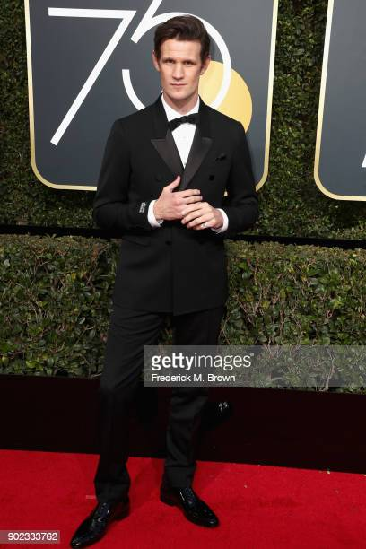 Matt Smith attends The 75th Annual Golden Globe Awards at The Beverly Hilton Hotel on January 7 2018 in Beverly Hills California