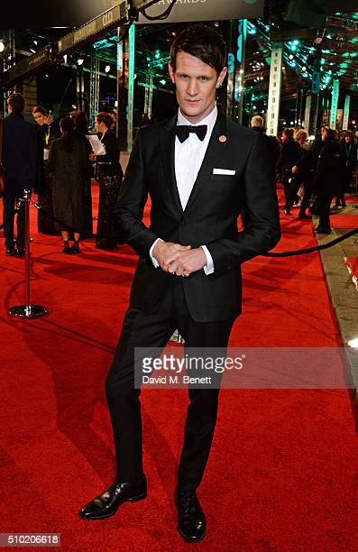 Matt Smith attends the EE British Academy Film Awards at The Royal Opera House on February 14 2016 in London England