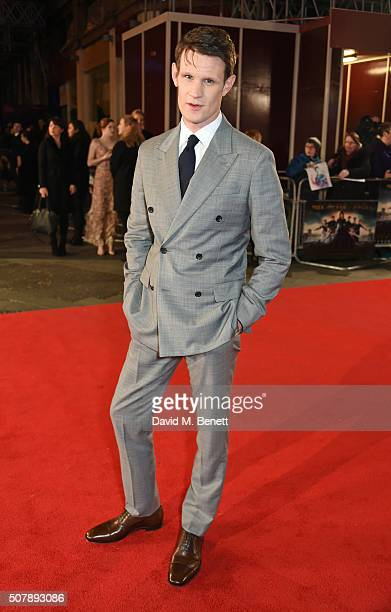 Matt Smith attends the European Premiere of 'Pride And Prejudice And Zombies' at the Vue West End on February 1 2016 in London England