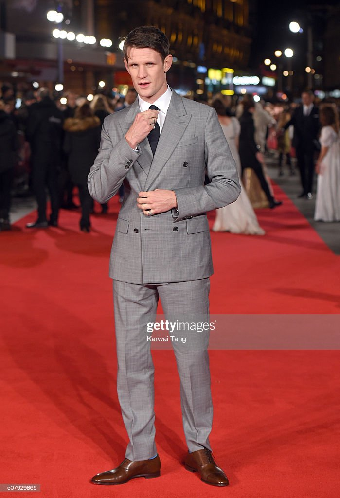 Matt Smith attends the European premiere of 'Pride And Prejudice And Zombies' at the Vue West End on February 1, 2016 in London, England.