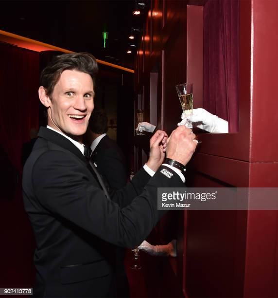 Matt Smith attends the Netflix Golden Globes after party at Waldorf Astoria Beverly Hills on January 7 2018 in Beverly Hills California