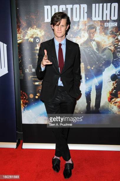 Matt Smith attends the preview screening of the first episode of the new series of Dr Who at BFI Southbank on August 14 2012 in London England