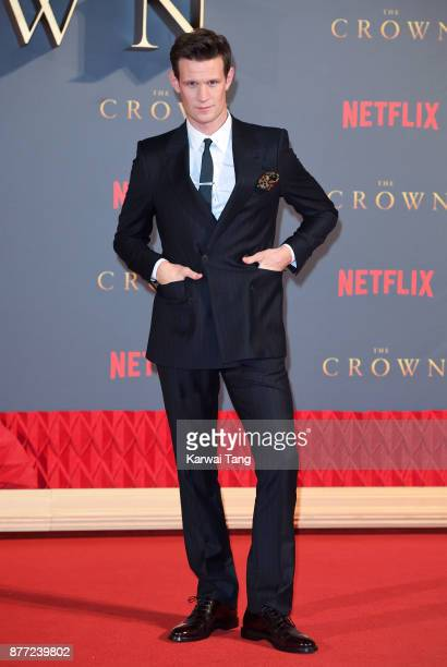 Matt Smith attends the World Premiere of Netflix's 'The Crown' Season 2 at Odeon Leicester Square on November 21 2017 in London England