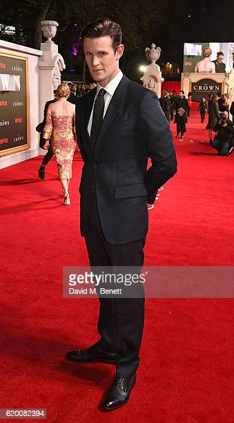 Matt Smith attends the World Premiere of new Netflix Original series The Crown at Odeon Leicester Square on November 1 2016 in London England