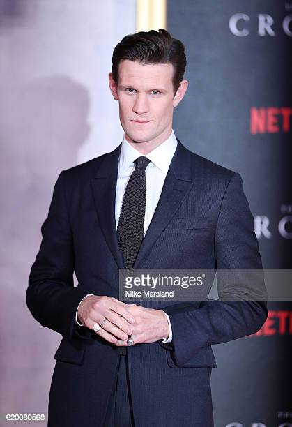 Matt Smith attends the world premiere of 'The Crown' at Odeon Leicester Square on November 1 2016 in London England