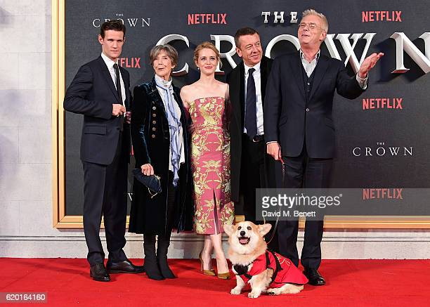 Matt Smith Dame Eileen Atkins Claire Foy Peter Morgan and Stephen Daldry attend the World Premiere of new Netflix Original series 'The Crown' at...