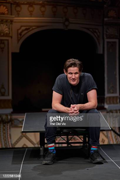 Matt Smith during a socially distanced dress rehearsal of 'Lungs' at The Old Vic Theatre on June 24, 2020 in London, England. The live performances,...