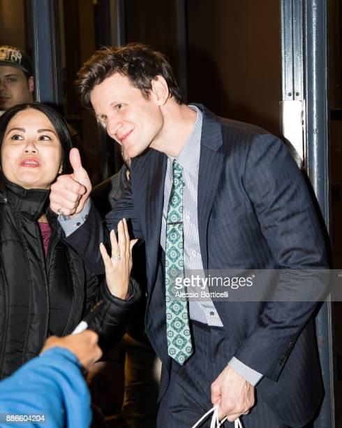 Matt Smith is seen leaving his hotel on December 5 2017 in New York New York