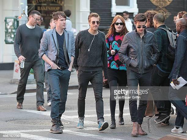 Matt Smith Karen Gillan and Arthur Darvil are seen on April 13 2012 in New York City