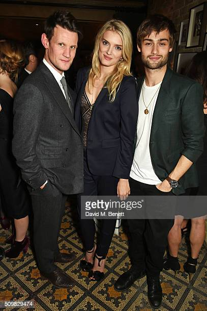 Matt Smith, Lily Donaldson and Douglas Booth attend Harvey Weinstein's pre-BAFTA dinner in partnership with Burberry and GREY GOOSE at Little House...