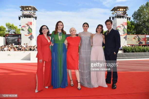 Matt Smith Marianne Rendón Hannah Murray Mary Harron and Sosie Bacon of 'Charlie Says' walks the red carpet ahead of the 'My Brilliant Friend '...