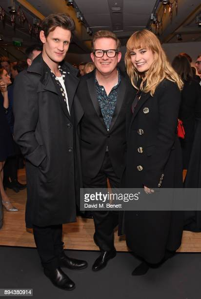 Matt Smith Matthew Bourne and Lily James attend the evening Gala Performance of 'Matthew Bourne's Cinderella' at Sadler's Wells Theatre on December...