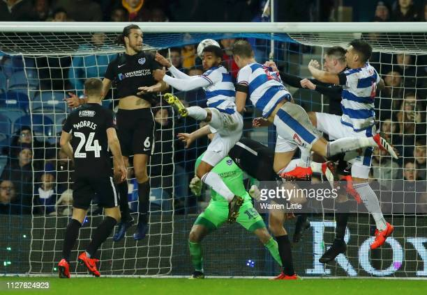 Matt Smith of Queens Park Rangers scores his sides second goal during the FA Cup Fourth Round Replay match between Queens Park Rangers and Portsmouth...