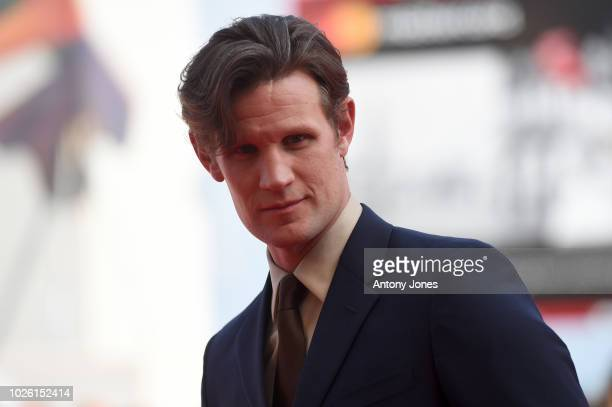 Matt Smith of the cast of 'Charlie Says' walks the red carpet ahead of the 'My Brilliant Friend ' screening during the 75th Venice Film Festival at...