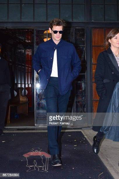 Matt Smith seen out and about in Manhattan on December 6 2017 in New York City