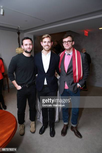 Matt Smoak Kyle Marshall and Kirk Swinehart during the Macklowe Gallery Hosts 2018 Winter Antiques Show Kickoff Event at 445 Park Avenue on December...