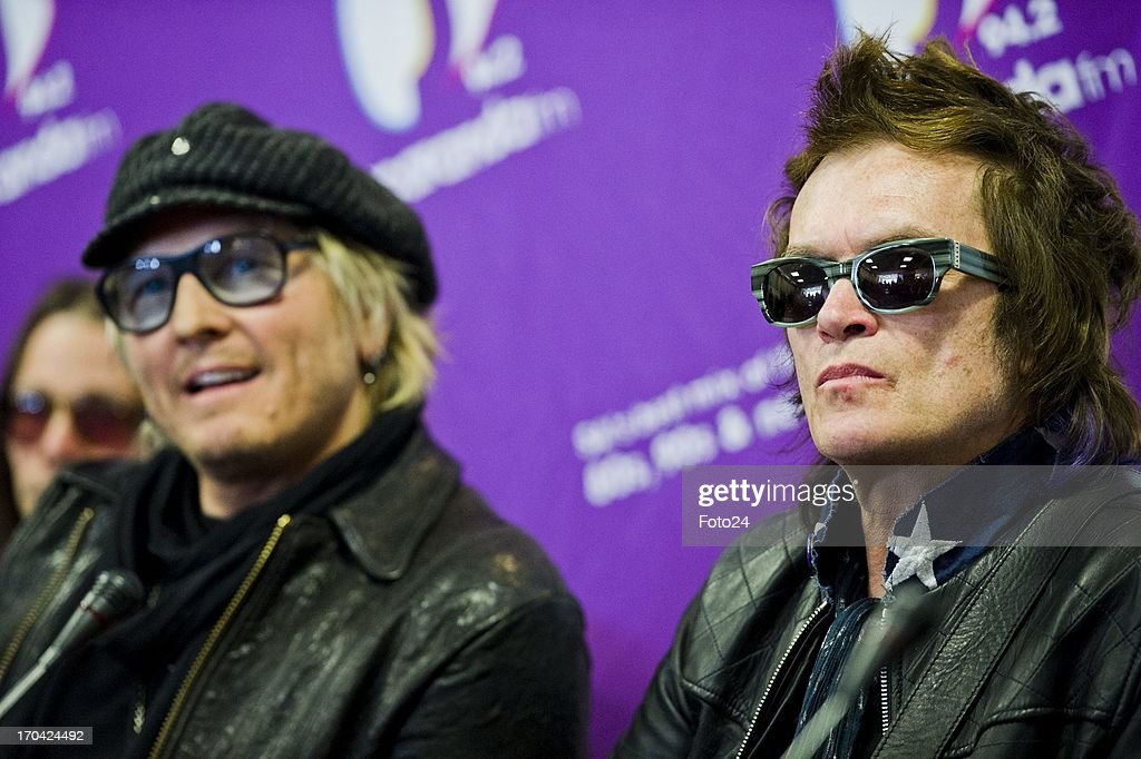 Matt Sorum and Glen Hughes at the Jacaranda FM studios on June 12, 2013, in Johannesburg, South Africa. Kings of Chaos performed in Cape Town on June 8, 2013 and are set to perform in Johannesburg on June 15 and 16, 2013.