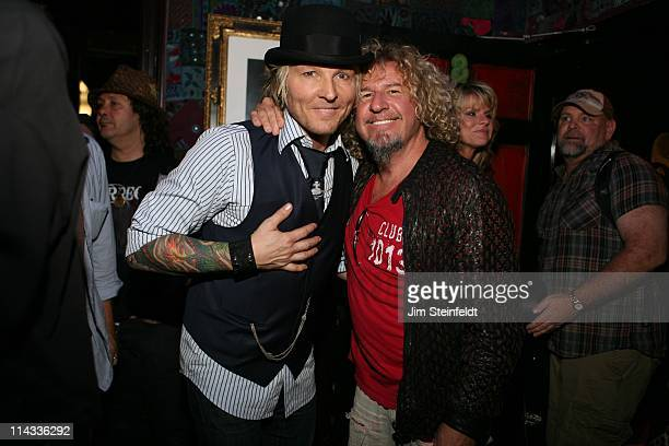 Matt Sorum and Sammy Hagar pose backstage at The House of Blues on the Sunset Strip during the filming of Rock N Roll Fantasy Camp in Los Angeles...
