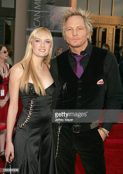Matt Sorum of Velvet Revolver and guest during 32nd Annual American Music Awards Arrivals at Shrine Auditorium in Los Angeles California United States