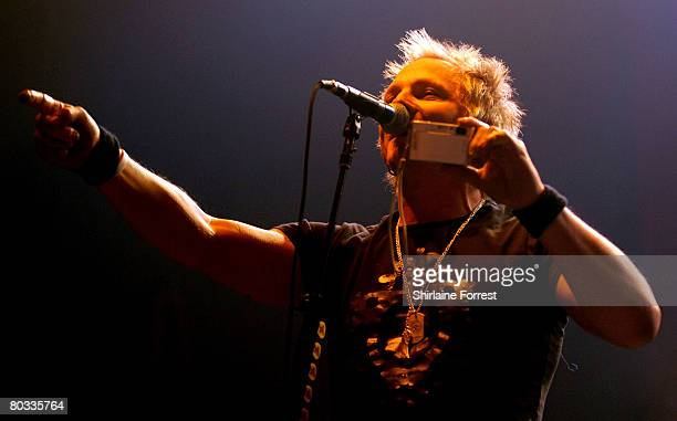 Matt Sorum of Velvet Revolver performs at Manchester Apollo on March 17 2008 in Manchester England