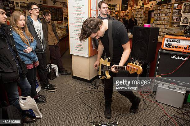 Matt Spalding of Menace Beach performs at Jumbo Records Town on January 19 2015 in Leeds United Kingdom