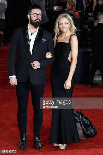 Matt Spracklen and Charlotte Black attend the 'Murder On The Orient Express' World Premiere at Royal Albert Hall on November 2 2017 in London England