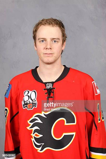 Matt Stajan of the Calgary Flames poses for his official team headshot on February 2, 2010 at the Pengrowth Saddledome in Calgary, Alberta, Canada.