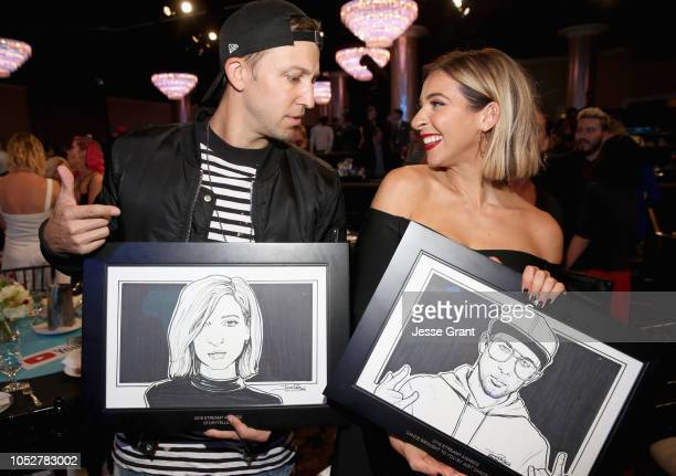 Matt Steffanina and Gabbie Hanna attend The 8th Annual Streamy Awards at The Beverly Hilton Hotel on October 22 2018 in Beverly Hills California