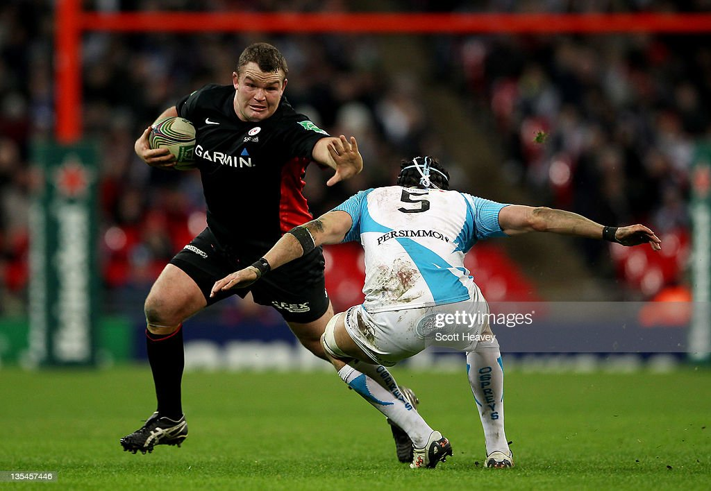 Matt Stevens of Saracens in action during the Heineken Cup Match between Saracens and Ospreys at Wembley Stadium on December 10, 2011 in London, England.
