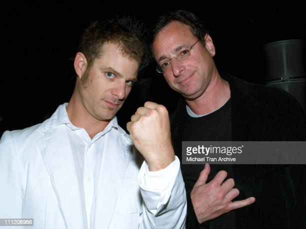Matt Stone and Bob Saget during Comedy Central Celebrate 10 Seasons of 'South Park' Arrivals and Inside at The Lot in Los Angeles California United...