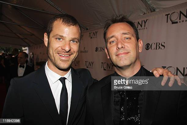 Matt Stone and Trey Parker attend the 65th Annual Tony Awards at the Beacon Theatre on June 12 2011 in New York City