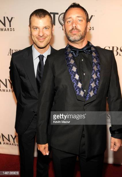 Matt Stone and Trey Parker attend the 66th Annual Tony Awards at The Beacon Theatre on June 10 2012 in New York City