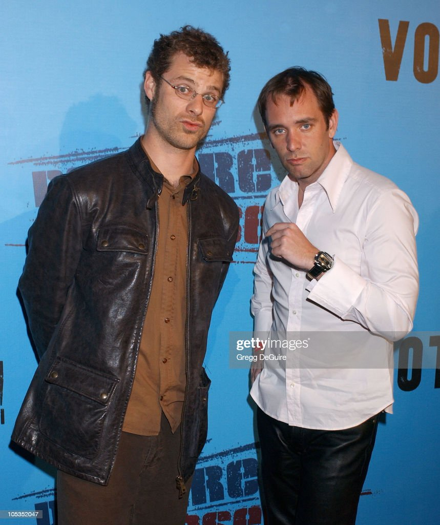 Matt Stone and Trey Parker during Celebrities Supporting 'Declare Yourself': A National Nonpartisan, Nonprofit Campaign Inspiring Young Adults To Participate In The 2004 Election at Historic Beverly Hills Post Office in Beverly Hills, California, United States.