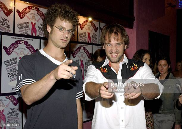 Matt Stone and Trey Parker during 'Deep' Owner Ivan Kane Introduces Newest Nightspot 'Forty Deuce' at Forty Deuce in Los Angeles California United...