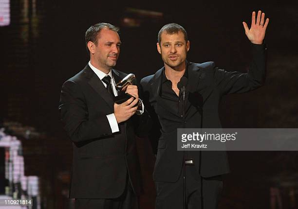 Matt Stone and Trey Parker onstage at the First Annual Comedy Awards at Hammerstein Ballroom on March 26, 2011 in New York City.