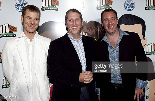 Matt Stone Doug Herzog President of Comedy Central and Trey Parker