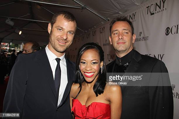 Matt Stone Nikki M James and Trey Parker attends the 65th Annual Tony Awards at the Beacon Theatre on June 12 2011 in New York City
