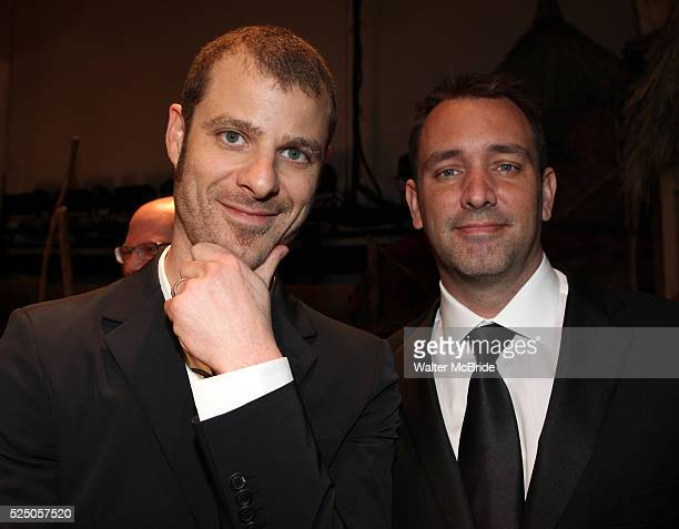Matt Stone Trey Parker attending the Broadway Opening Night Gypsy Robe for 'The Book Of Mormon' and the Gypsy Robe recipient Michael James Scott at...