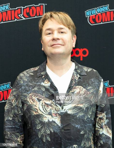 Matt Strevens attends photocall for Doctor WHO new season during New York Comic Con at Jacob Javits Center