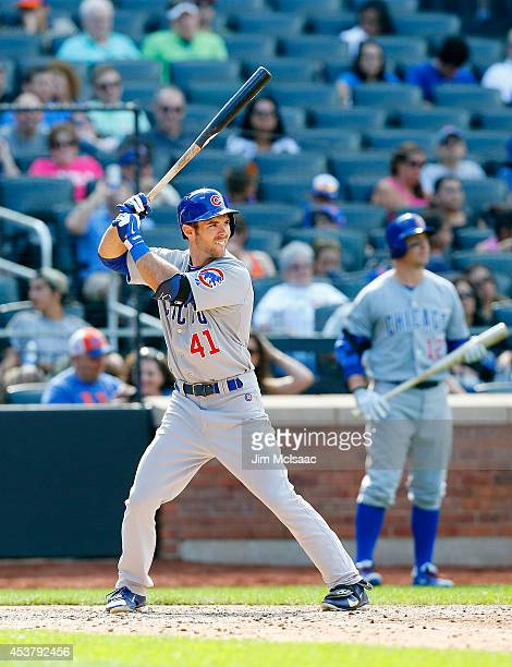 Matt Szczur of the Chicago Cubs in action against the New York Mets at Citi Field on August 17 2014 in the Flushing neighborhood of the Queens...