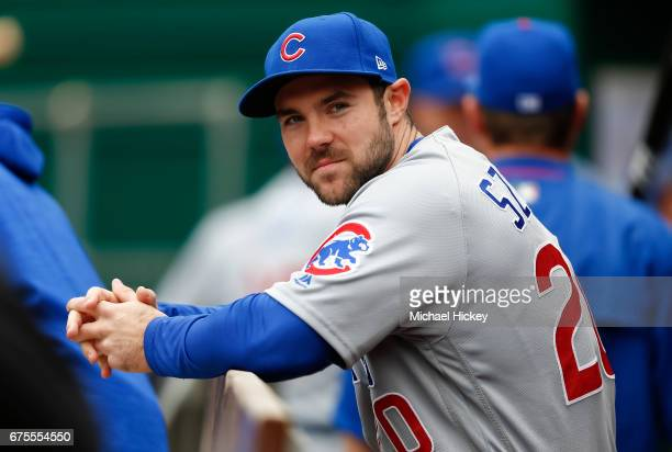 Matt Szczur of the Chicago Cubs is seen during the game against the Cincinnati Reds at Great American Ball Park on April 23 2017 in Cincinnati Ohio