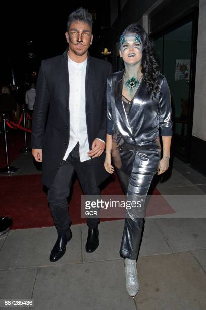 Matt Terry and friend sighting at M hotel Halloween Party on October 27 2017 in London England