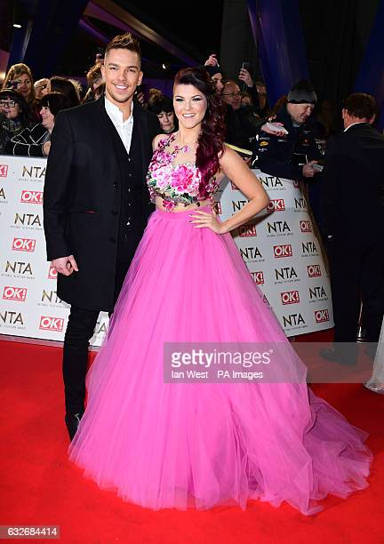 Matt Terry and Saara Aalto arriving at the National Television Awards 2017 held at The O2 Arena London PRESS ASSOCIATION Photo Picture date 25th...